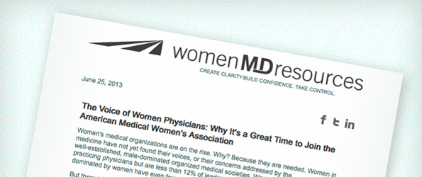 The Voice of Women Physicians: Why It's a Great Time to Join the American Medical Women's Association